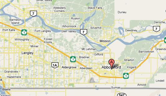 Abbotsford (BC) Canada  city photo : Map of bc canada with cities